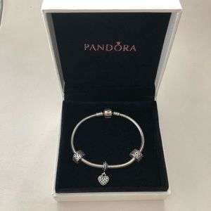 Pandora Bracelet with 10 charms included
